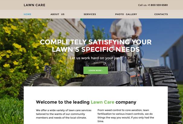 Lawn Care Website Template. free lawn care website templates lawn ...
