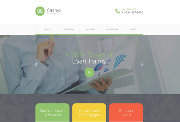 Financial Services Website Templates. 40 financial website designs ...