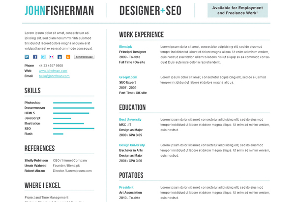 a clean cv resume template for professionals and corporates it helps you build a solid online presence easily and such practices always lead to more