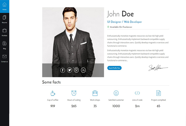 50 Best HTML CV Resume Templates to Download 2017 – Web Resume Template