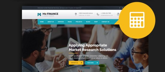 HTML Finance Website Templates