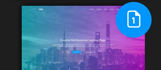 Best HTML One Page Website Templates