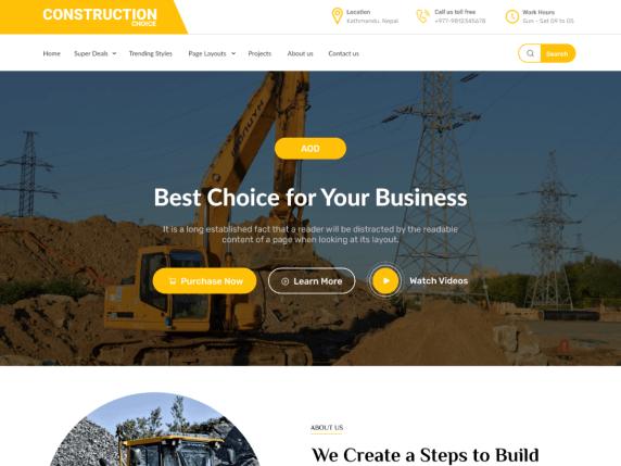 Construction Choice best construction WordPress themes
