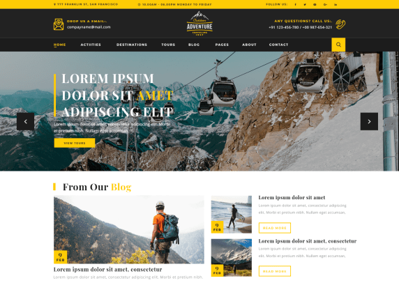 Adventure-Travelling-Best-free-travel-WordPress-themes-for-travel-blogs