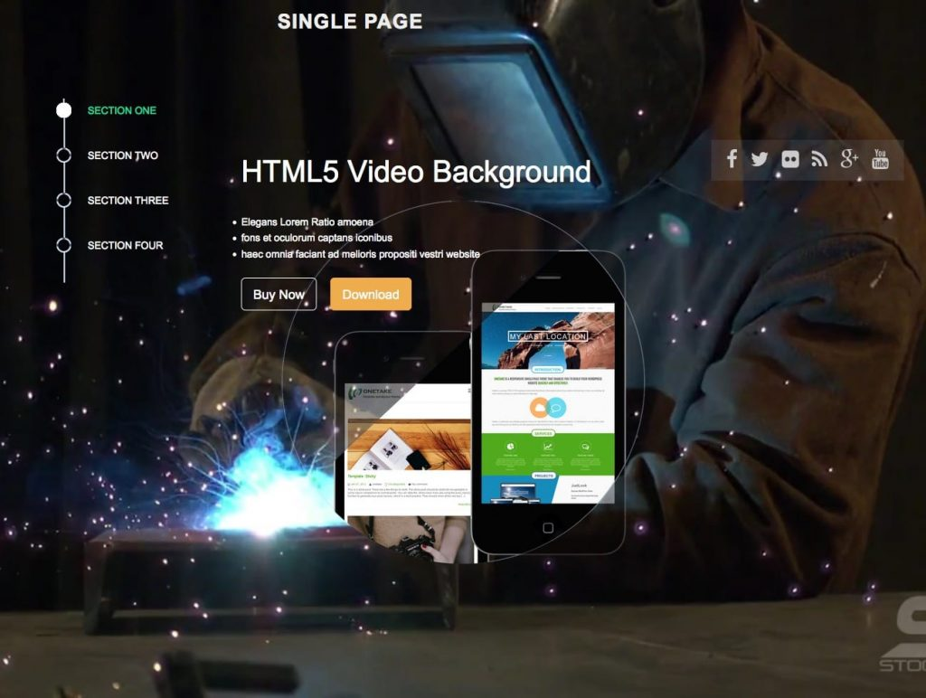 singlepage - free one page wordpress themes collection