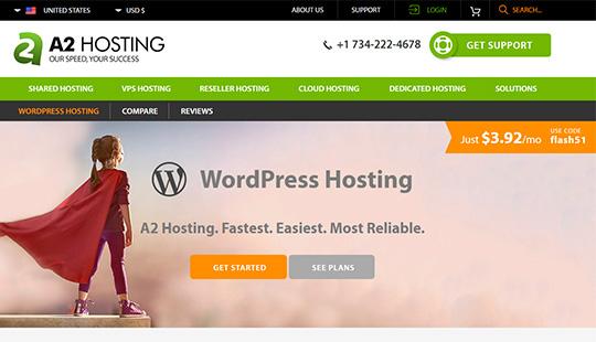 A2Hosting- meilleur hébergement WordPress