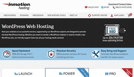 Hébergement InMotion - meilleur hébergement WordPress