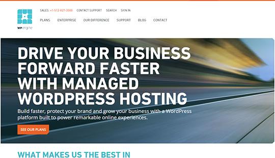 WP Engine - Le meilleur hébergement géré par WordPress