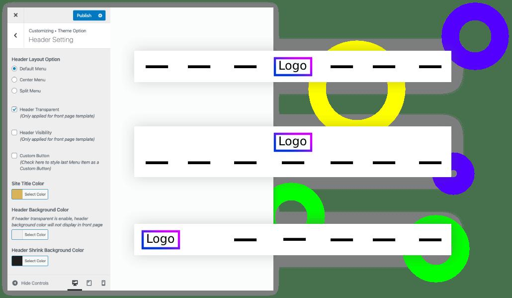 header layout