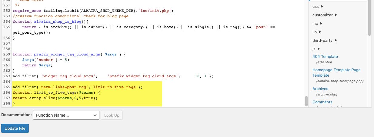 Code tags post