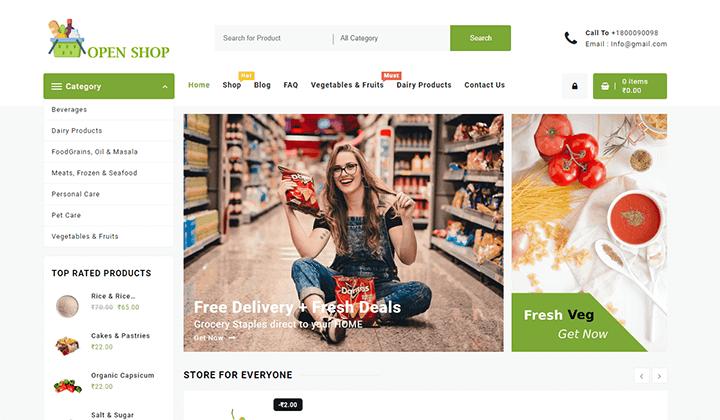 Open Shop WordPress Theme Templates