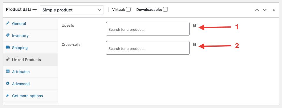WooCommerce Linked products section setup