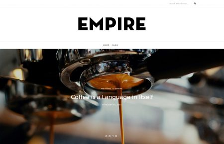Empire free wordpress minimal blog theme by ThemeIt.com