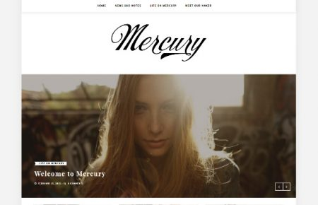mercury free personal blog theme by themeit.com
