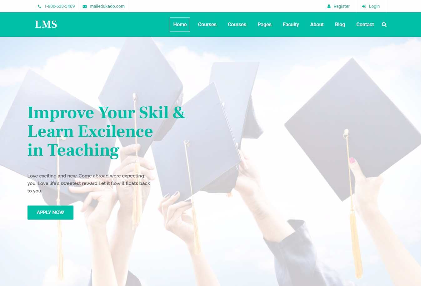 LMS Education System HTML5 Template