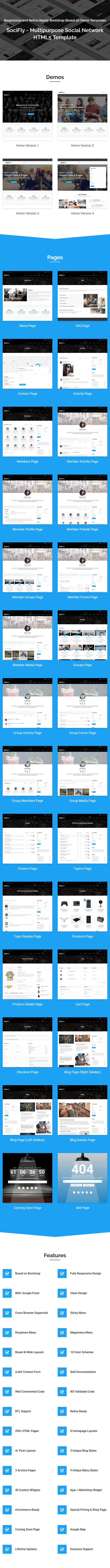 Socifly multipurpose social network html5 template website any sorts of social networking web site its an html5 template primarily based on newest steady bootstrap 337 anybody can simply replaceedit this maxwellsz