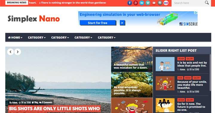 Simplex Nano Best Free Blogger Templates
