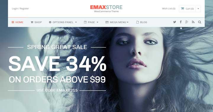 eMax store WordPress Theme