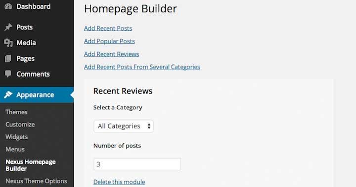 Nexus WordPress Theme Homebuilder