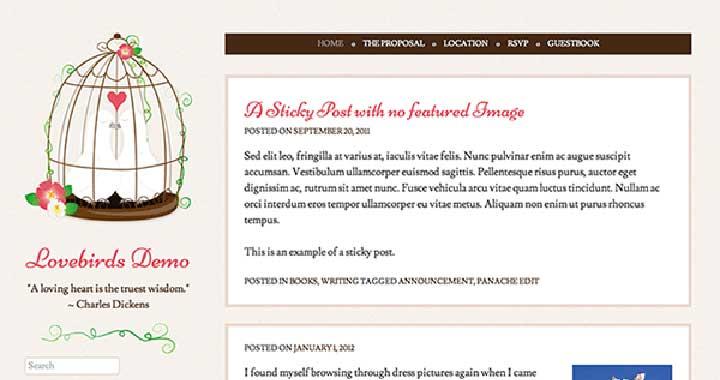 Lovebirds Wedding Websites