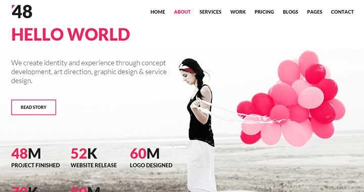 48 Creative Best Free Portfolio WordPress Themes