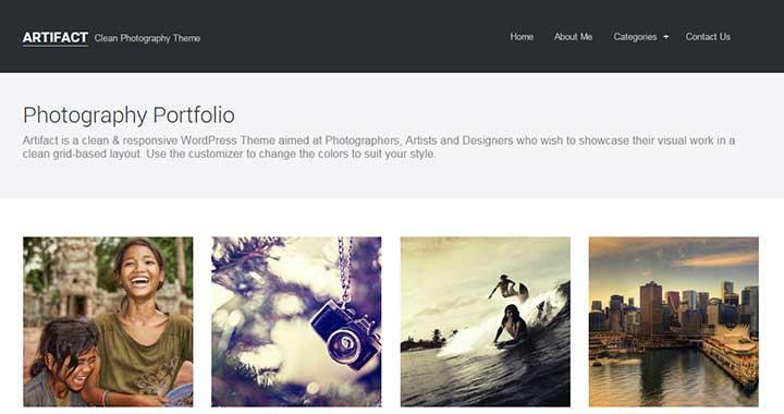 Artifact Portfolio WordPress Themes