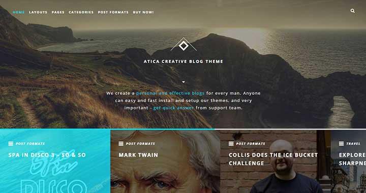 Atica WordPress Blog Themes Free