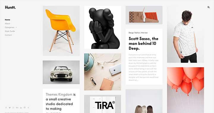 Huntt WordPress Portfolio Theme Free