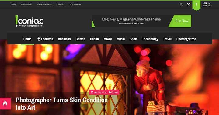 Iconiac Magazine Theme WordPress