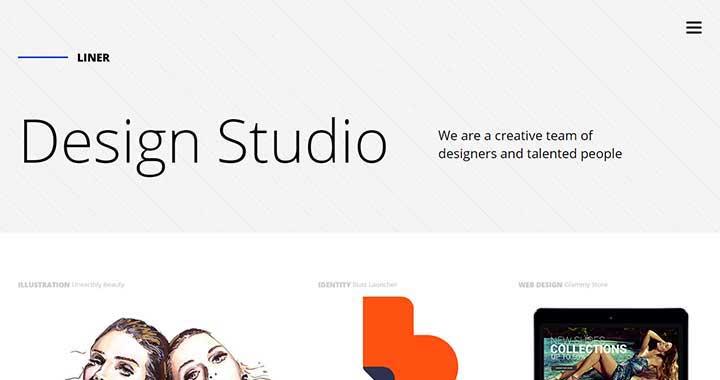 Liner WordPress portfolio Themes