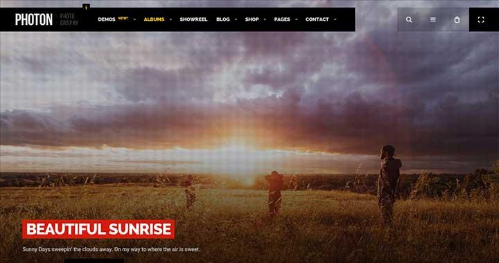 Photon WordPress Theme Portfolio