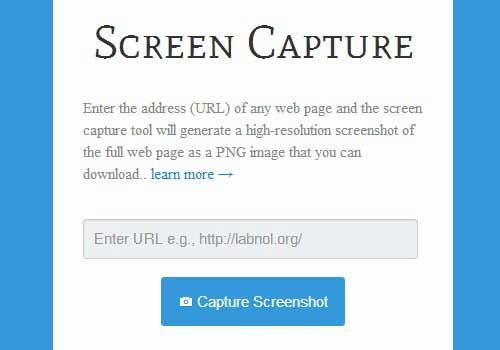free websites taking screenshots