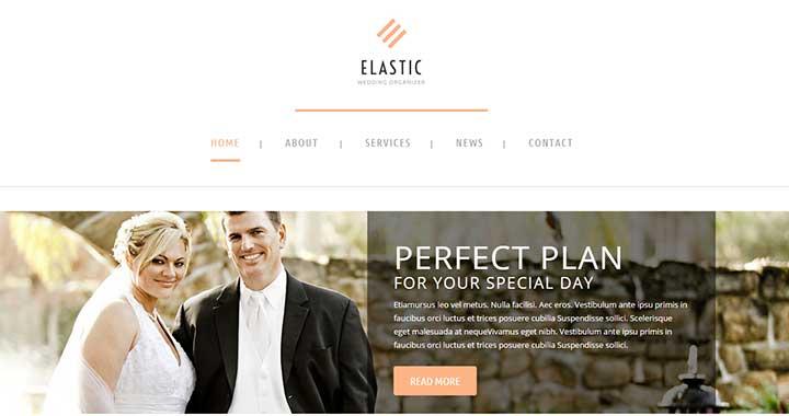 Elastic WordPress Theme Wedding