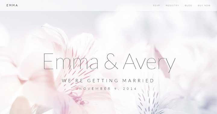 Emma WordPress Wedding Site