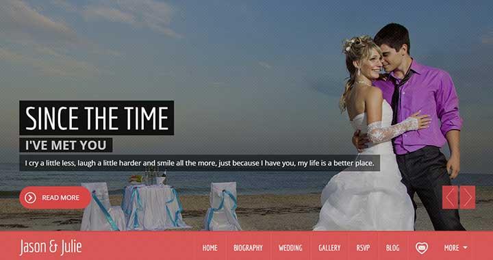 Jason & Julie Wedding Theme WordPress