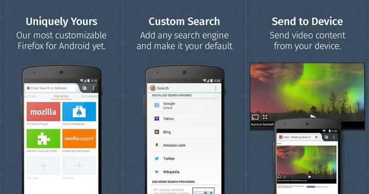 Mozilla Firefox Android Web