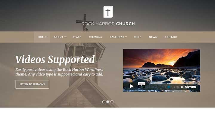 Rock Harbor WordPress Church Themes