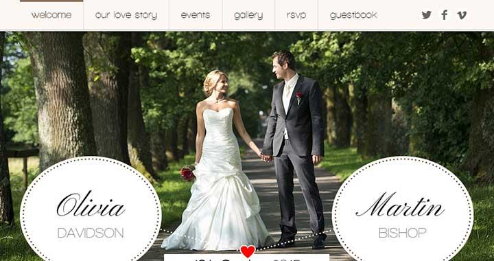 Romantic Wedding WordPress Wedding Website