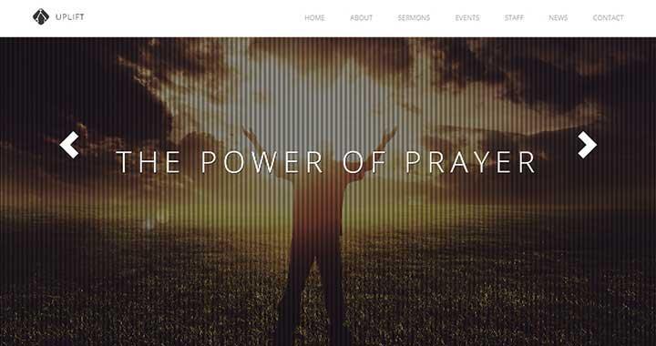 Uplift WordPress Church Themes