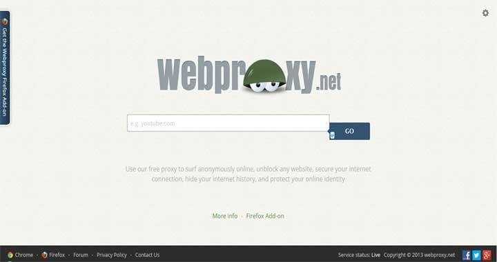 Online Web Proxy