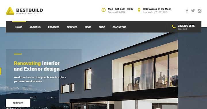 BestBuild wordpress themes architecture company