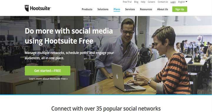 HootSuite social media management tools