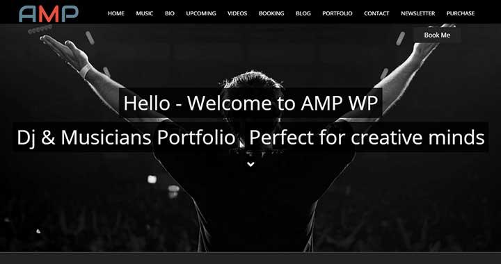 AMP wordpress music magazine themes