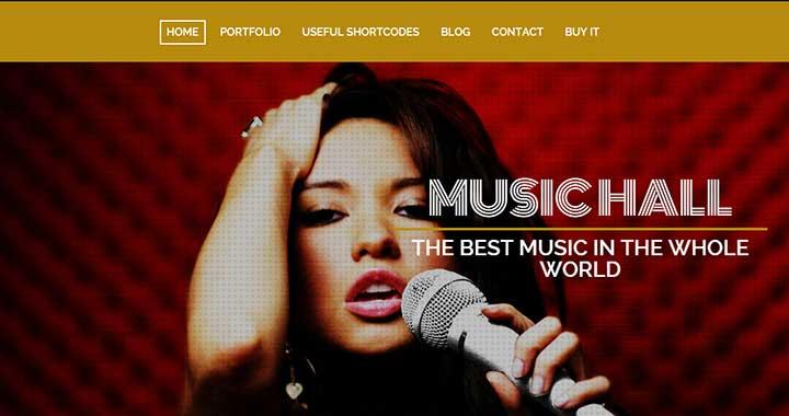 MusicHall amazing free music wordpress themes