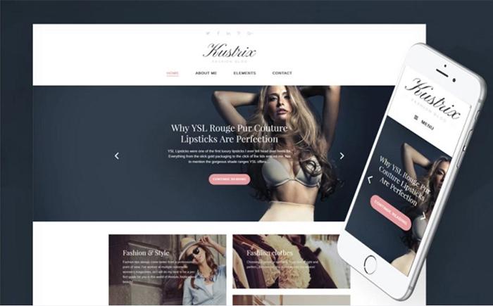 Kustrix Lite - Free WordPress Theme