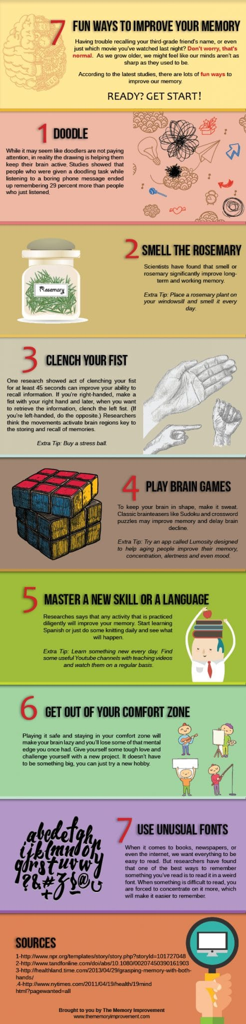 Fun ways to Improve your Memory [Infographic] | ecogreenlove
