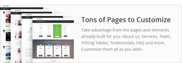 Tons of Pages to Customize