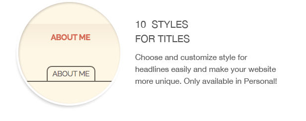 Title styles