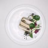 Julien Burlat -- Dome -- Pressed chicken-foie gras-artichoke-sherry emulsion-dried olives - SMALL