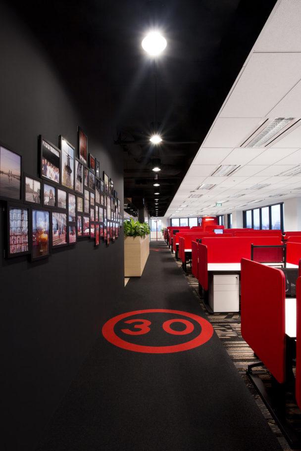 TripAdvisor's office with colour scheme